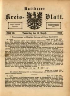 Ratiborer Kreis-Blatt, 1889, Stück 33