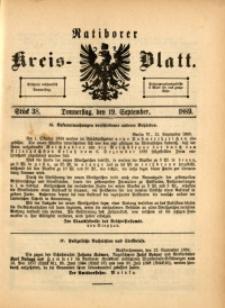Ratiborer Kreis-Blatt, 1889, Stück 38