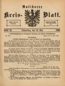 Ratiborer Kreis-Blatt, 1890, Stück 22