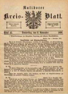 Ratiborer Kreis-Blatt, 1890, Stück 45