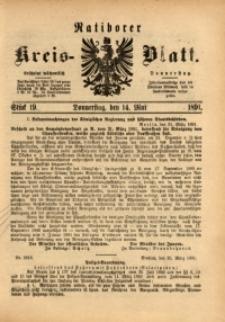 Ratiborer Kreis-Blatt, 1891, Stück 19