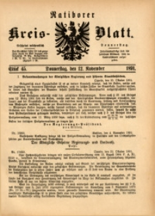 Ratiborer Kreis-Blatt, 1891, Stück 45