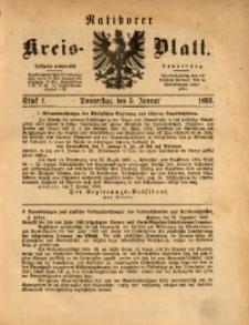 Ratiborer Kreis-Blatt, 1893, Stück 1