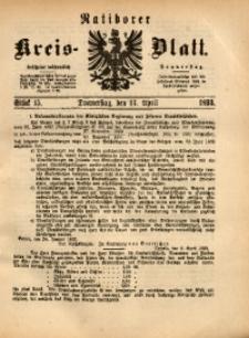 Ratiborer Kreis-Blatt, 1893, Stück 15