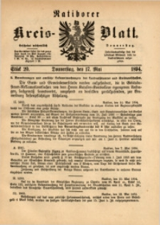 Ratiborer Kreis-Blatt, 1894, Stück 20
