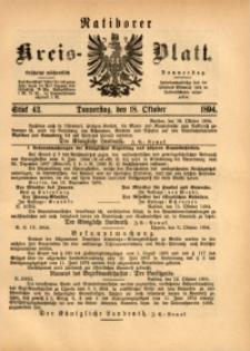 Ratiborer Kreis-Blatt, 1894, Stück 42