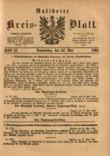 Ratiborer Kreis-Blatt, 1895, Stück 22