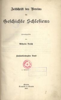 Zeitschrift des Vereins für Geschichte Schlesiens 1931, Bd. 65