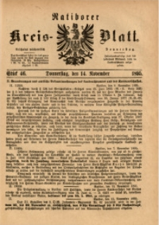 Ratiborer Kreis-Blatt, 1895, Stück 46