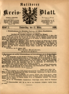 Ratiborer Kreis-Blatt, 1896, Stück 11