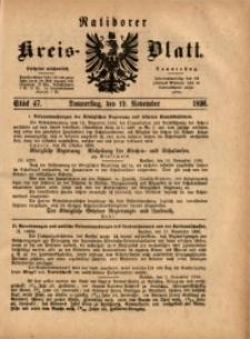 Ratiborer Kreis-Blatt, 1896, Stück 47
