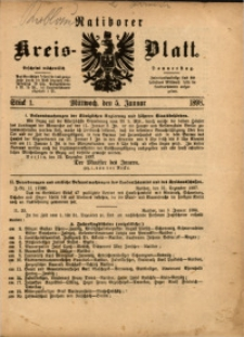 Ratiborer Kreis-Blatt, 1898, Stück 1