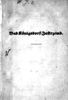 Bad Königsdorf-Jastrzemb oder die drei Elisen. Bade-Novelle