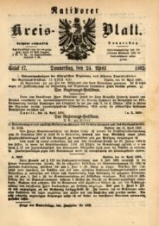 Ratiborer Kreis-Blatt, 1902, Stück 17