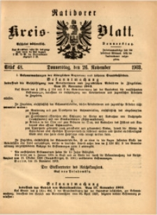 Ratiborer Kreis-Blatt, 1903, Stück 48