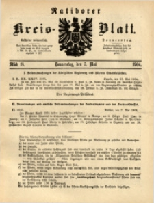 Ratiborer Kreis-Blatt, 1904, Stück 18