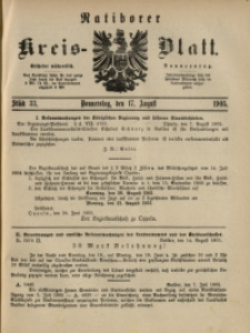 Ratiborer Kreis-Blatt, 1905, Stück 33