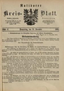Ratiborer Kreis-Blatt, 1905, Stück 47