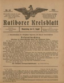 Ratiborer Kreisblatt, 1912, nr33