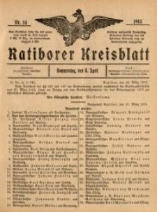 Ratiborer Kreisblatt, 1913, nr14