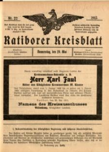 Ratiborer Kreisblatt, 1913, nr22