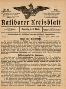 Ratiborer Kreisblatt, 1913, nr40