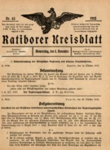 Ratiborer Kreisblatt, 1913, nr45