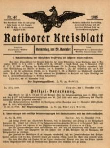 Ratiborer Kreisblatt, 1913, nr47