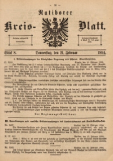 Ratiborer Kreis-Blatt, 1884, Stück 8
