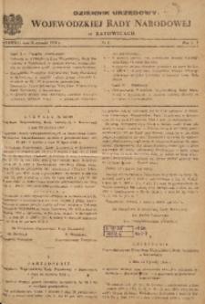 Dziennik Urzędowy Wojewódzkiej Rady Narodowej w Katowicach, 1958, nr1