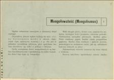 Informacja o mongołowatości u dzieci