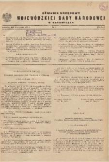 Dziennik Urzędowy Wojewódzkiej Rady Narodowej w Katowicach, 1971, nr1