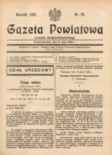 Gazeta Powiatowa Powiatu Świętochłowickiego, 1936, nr19
