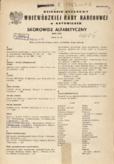 Dziennik Urzędowy Wojewódzkiej Rady Narodowej w Katowicach. Skorowidz alfabetyczny, rok 1983