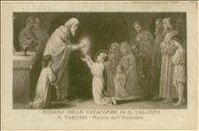 Karta pocztowa z ilustracją starożytnych męczenników chrześcijańskich