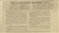 """Artykuł F.J. w """"Gazecie Pabianickiej"""" o odczycie Tadeusza Regera pt. """"Jak powstał człowiek pierwotny?"""""""