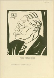 Karykatury Tadeusza Regera wykonane przez E. G. w 1926 r.