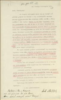 List Ant. Steffka do Tadeusza Regera w związku z kompletowaniem materiałów o rozbijackiej działalności Arona w PSPR na Zaolziu - Cieszyn, 09.08.1926 r.