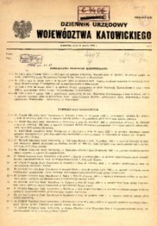 Dziennik Urzędowy Województwa Katowickiego, 1989, nr1