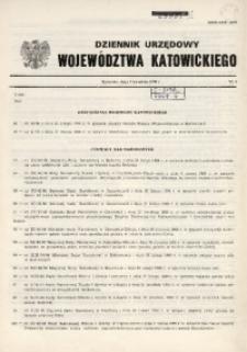 Dziennik Urzędowy Województwa Katowickiego, 1990, nr4