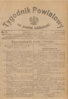 Tygodnik Powiatowy na Powiat Lubliniecki, 1926, nr 5
