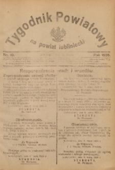 Tygodnik Powiatowy na Powiat Lubliniecki, 1926, nr 10
