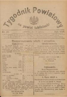Tygodnik Powiatowy na Powiat Lubliniecki, 1926, nr 23
