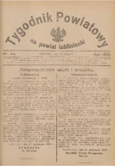 Tygodnik Powiatowy na Powiat Lubliniecki, 1926, nr 44