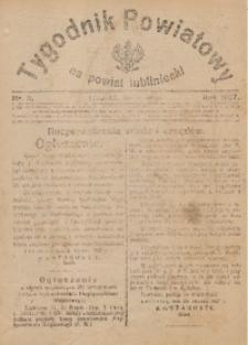 Tygodnik Powiatowy na Powiat Lubliniecki, 1927, nr5