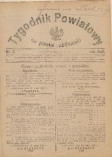 Tygodnik Powiatowy na Powiat Lubliniecki, 1927, nr7