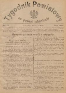 Tygodnik Powiatowy na Powiat Lubliniecki, 1927, nr13
