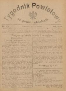 Tygodnik Powiatowy na Powiat Lubliniecki, 1927, nr23