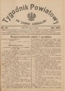 Tygodnik Powiatowy na Powiat Lubliniecki, 1927, nr25
