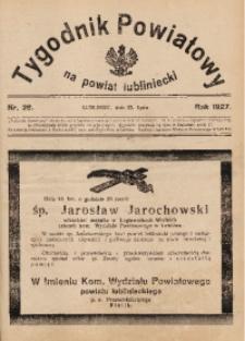 Tygodnik Powiatowy na Powiat Lubliniecki, 1927, nr28
